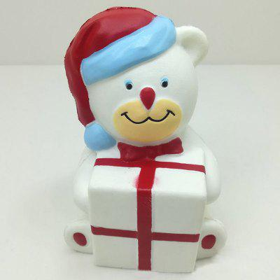 Stress Relief Squishy Toy PU Slow Rising Simulation Christmas Bear