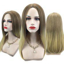 Center Parting Long Straight Ombre Synthetic Wig