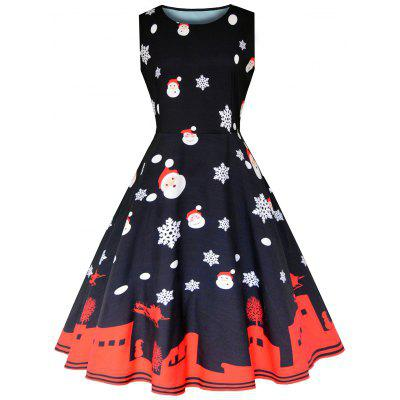 Christmas Sleeveless Vintage Party Dress