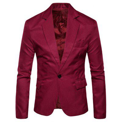 One Button Flap Pocket Blazer