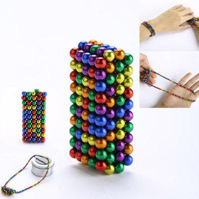 216Pcs 5MM Relieve Anxiety DIY Colorful Magic Magnetic Buckyballs