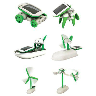 Educational Solar Powered 6-in-1 Puzzle Assembly Toy Kit