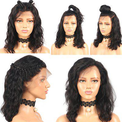 Medium Free Part Fluffy Water Wave Lace Front Synthetic Wig
