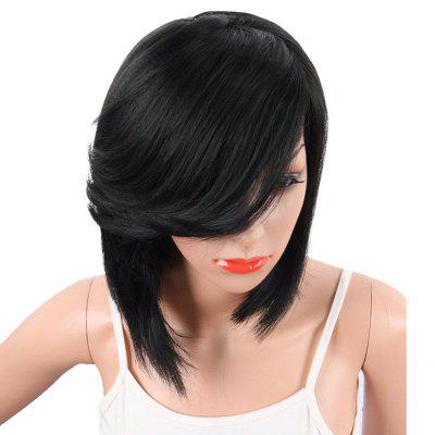 Inclined Fringe Short Straight Synthetic Wig