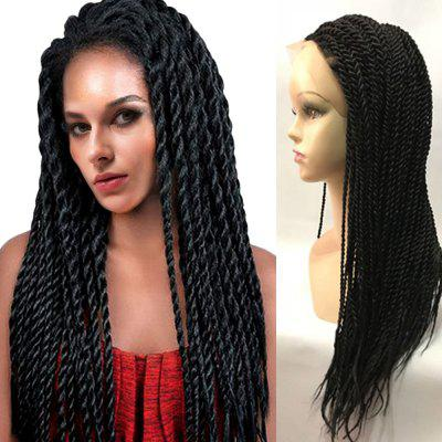 Long Twisted Braided Lace Front Synthetic Wig