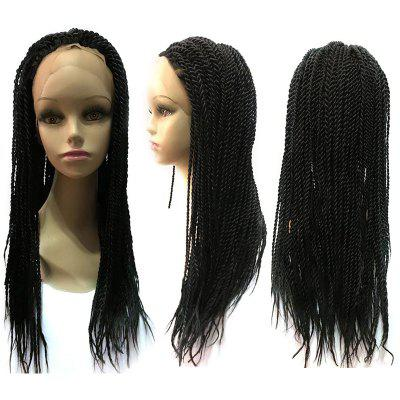 Long Twisted Braided Lace Front Synthetic Wig medium long wavy heat resistant fiber hair white lace front synthetic wig