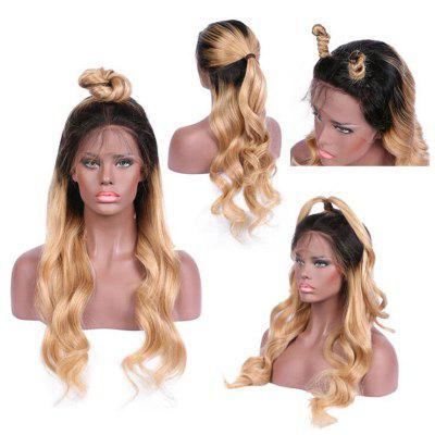 Long Free Part Ombre Wavy Lace Front Synthetic Wig