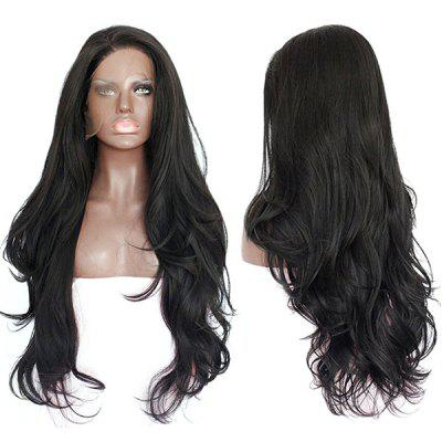 Long Side Parting Layered Wavy Lace Front Synthetic Wig