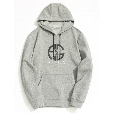 Fleece Lining Mens Graphic Hoodie