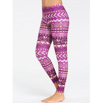 Chevron Pattern Breathable Yoga Tights