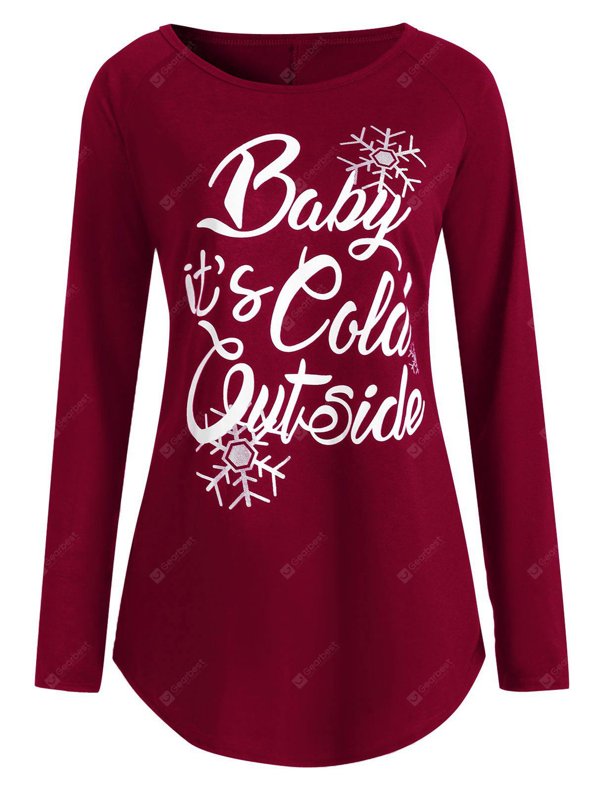 Plus Size Baby Its Cold Outside Christmas T-shirt