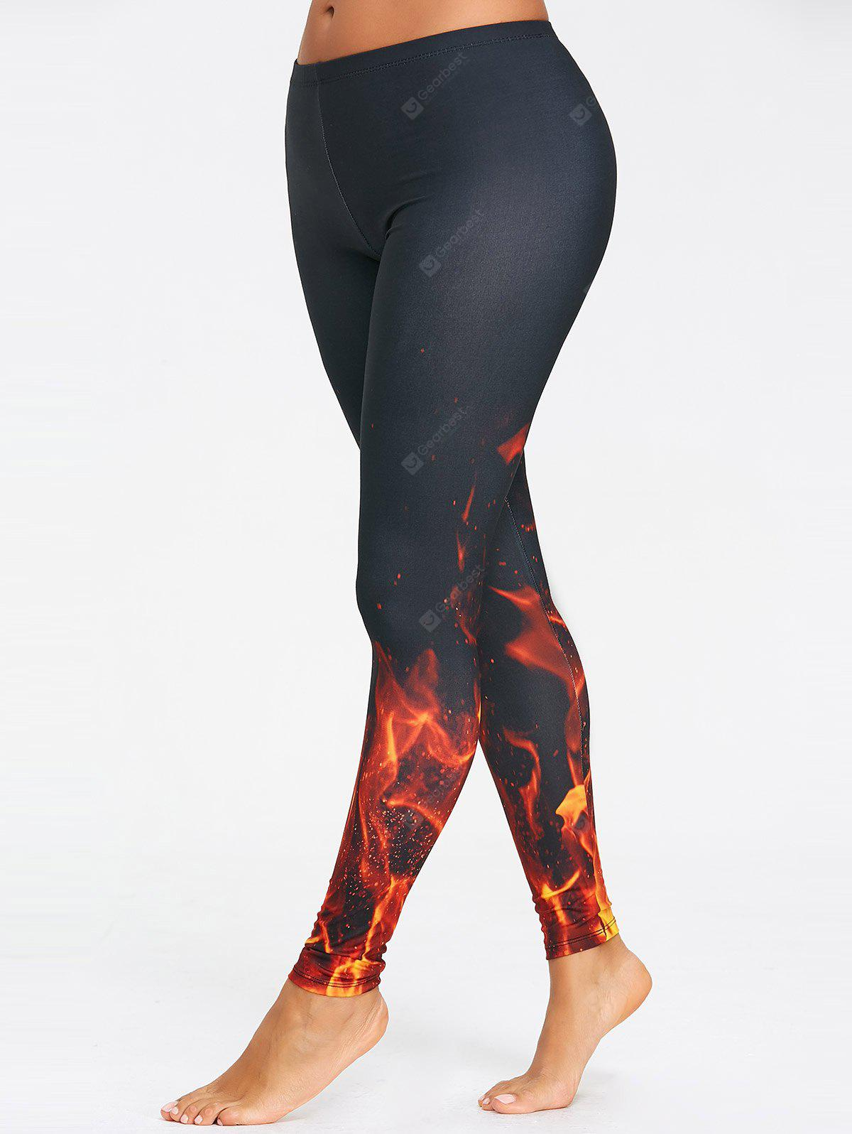 Fire 3D Printed Workout Leggings