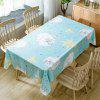 Christmas Sheep Star Print Waterproof Fabric Tablecloth - COLORMIX