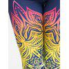 Floral Print Ombre Yoga Leggings - COLORFUL