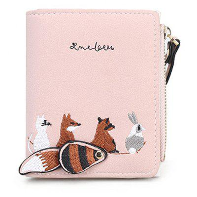 Embroidery Animal Pattern Wallet