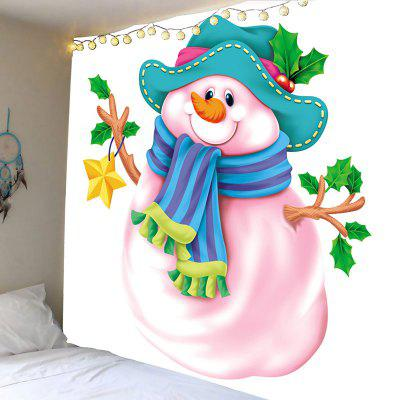 Wall Hanging Art Snowman Pattern Tapestry