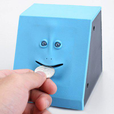 Cute Sensor Saving Coin Money Face Bank