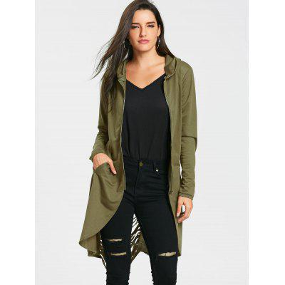 Ripped Tunic Zip Up HoodieSweatshirts &amp; Hoodies<br>Ripped Tunic Zip Up Hoodie<br><br>Material: Polyester, Spandex<br>Package Contents: 1 x Hoodie<br>Pattern Style: Solid<br>Season: Fall, Spring<br>Shirt Length: Long<br>Sleeve Length: Full<br>Style: Fashion<br>Weight: 0.4200kg