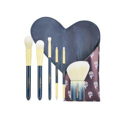 6Pcs Portable Beauty Tools Makeup Brushes Set With Bag