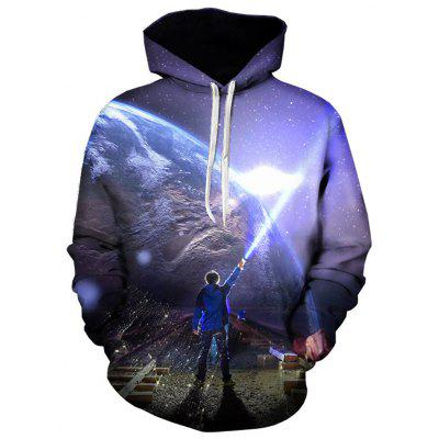 Buy 3D Earth Figure Print Pullover Hoodie, COLORMIX, L, Apparel, Men's Clothing, Men's Hoodies & Sweatshirts for $32.68 in GearBest store