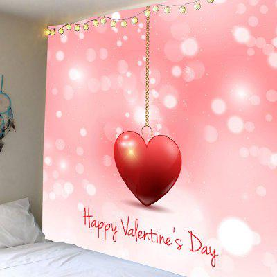 Heart Printed Valentine's Day Wall Hanging Tapestry