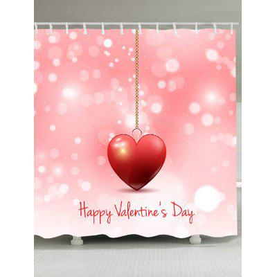 Valentine's Day Heart Printed Shower Curtain