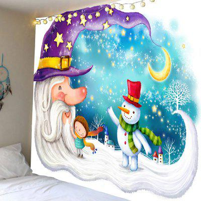 Papai Noel Snowman Moon Patterned Wall Hanging