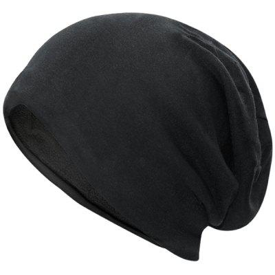 Outdoor Simple Two Layers Thicken Slouchy Beanie