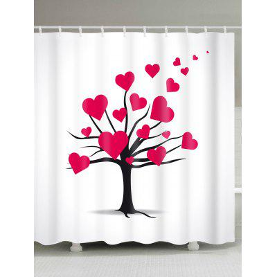 Valentine's Day Mature Love Tree Pattern Waterproof Shower Curtain
