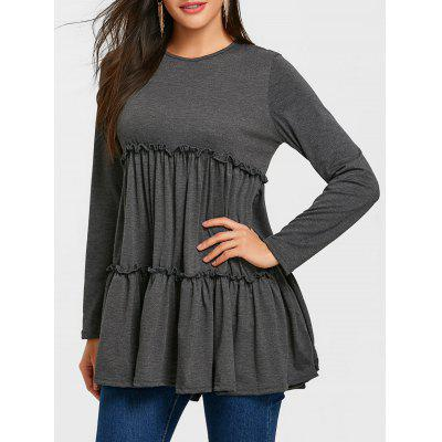 Ruffle Tunic Long Sleeve Top