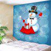 Magician Snowman Pattern Wall Art Tapestry - COLORFUL