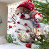 Snowman Bucket Pattern Wall Art Tapestry - COLORFUL