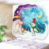 Papai Noel Snowman Moon Patterned Wall Hanging - COLORIDO