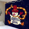 Dancer Snowman Pattern Wall Art Tapestry - COLORFUL