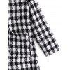 Checked Open Front Hooded Coat - CHECKED