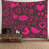 Cupid Love Expression Series Pattern Wall Hanging Tapestry - PINK