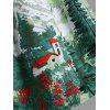 Christmas Vintage Ruched Forest Print Plus Size Dress - LIGHT GREEN