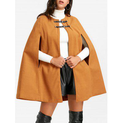 Dual Buckles Cape Coat