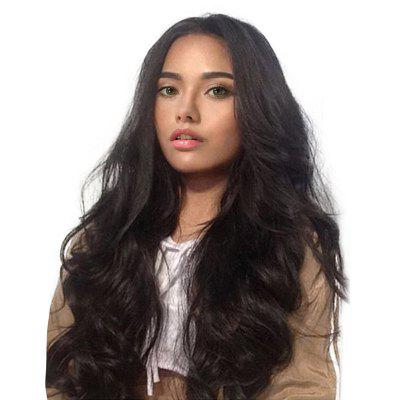 Long Middle Parting Fluffy Wavy Synthetic Wig