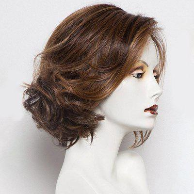 Short Side Parting Colormix Wavy Bob Synthetic Wig