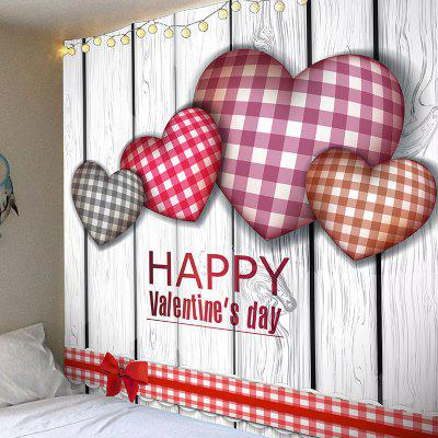 Tartan Plaid Heart Pattern Valentine's Day Wall Hanging