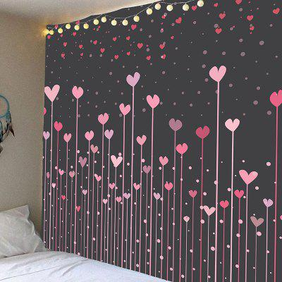 Waterproof Love Heart Forest Printed Wall Tapestry