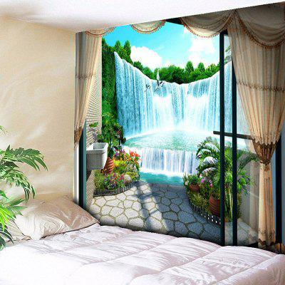 Window Scenery Cachoeira Impresso Wall Hanging Tapestry