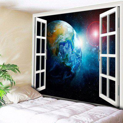 3D Window Scenery Planet Print Wall Hanging Tapestry