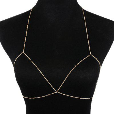 Simple Geometric Bra Body Chain