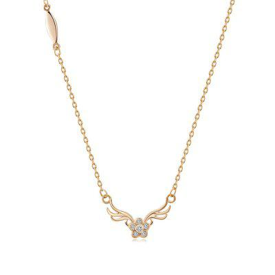 Rhinestone Flower Deer Antlers Collarbone Necklace