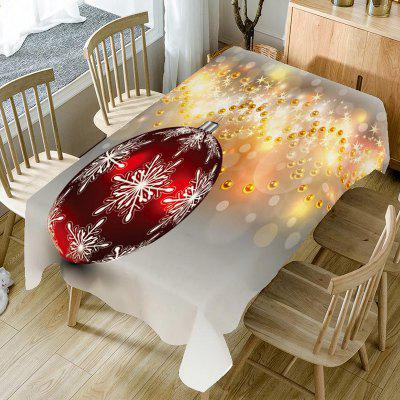 Baubles Printed Christmas Table Cloth