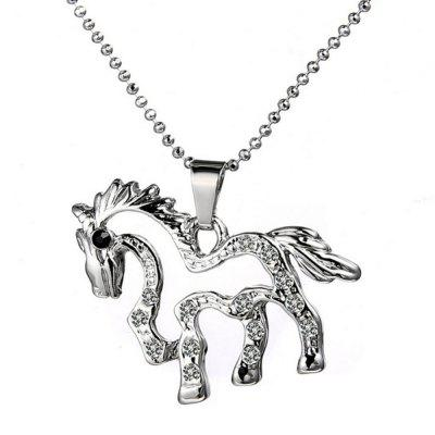 Fake Diamond Delicate Pegasus Pendant Necklace