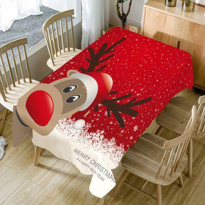 Snowflakes Christmas Elk Pattern Table Cloth