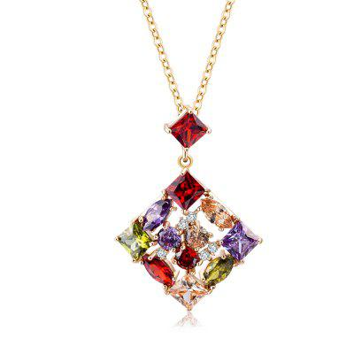 Rhinestone Geometric Collarbone Pendant Necklace